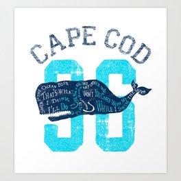 Cape Cod Whale Art Print