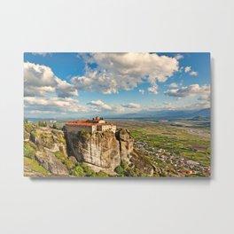 Agios Stephanos Monastery in the Meteora Monastery complex in Greece Metal Print