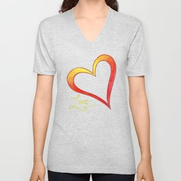 Firery Love Unisex V-Neck