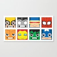 superheros Canvas Prints featuring Baby Superheros by Jconner