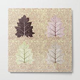 Fiction of a leaf. Autumn falls Metal Print