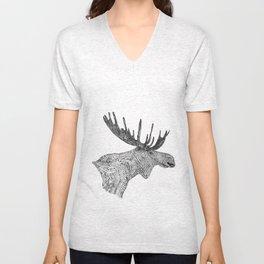 Maud the Moose Unisex V-Neck