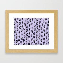 mustache Framed Art Print