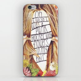 punk rocker iPhone Skin