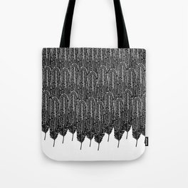 Black & White Feather Wilderness Tote Bag
