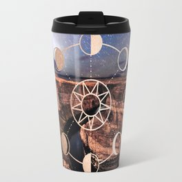 Mandala Southwest Desert Sun and Moon Phases Travel Mug