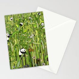Pandas Bamboo Forest Stationery Cards