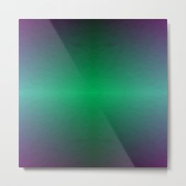 Green Blue and Purple Storm Horizon Metal Print