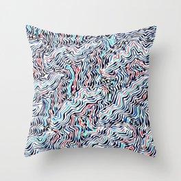 black topography Throw Pillow