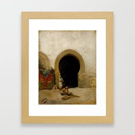 Mariano Jose Maria Bernardo Fortuny y Carbo - At the Gate of the Seraglio Framed Art Print