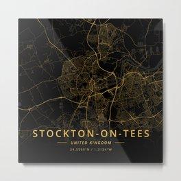 Stockton-on-Tees, United Kingdom - Gold Metal Print