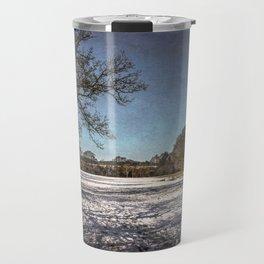 Snowy Tidmarsh Meadows Travel Mug