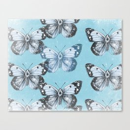 Butterfly - Blue Canvas Print