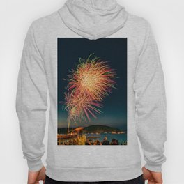 Fireworks Fourth Of July Bar Harbor Maine Print Hoody