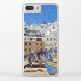 Albufeira fishing boats, Portugal Clear iPhone Case