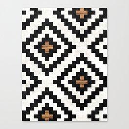 Urban Tribal Pattern No.16 - Aztec - Concrete and Wood Canvas Print