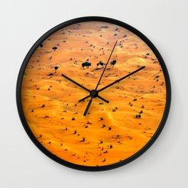 orange sand Wall Clock