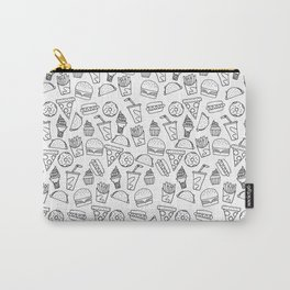 Fast Food Monoline Doodles Carry-All Pouch