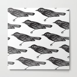 Paper Bird Cutout Metal Print