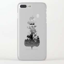 Then There is Cold... in Black and White Clear iPhone Case