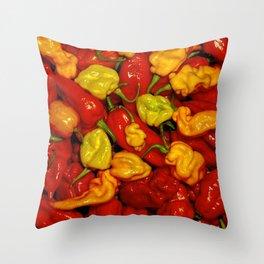 Hot Pepper Mix Throw Pillow