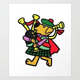 Bagpipe Music Gift Scotland Scots Scotland Art Print