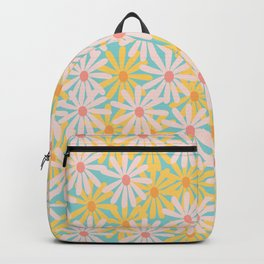 Retro Sunny Floral Pattern Backpack