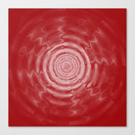 Ripples_Red Canvas Print