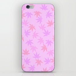 Pink Kush Leaf iPhone Skin