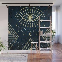 Eye Midnight Gold Wall Mural