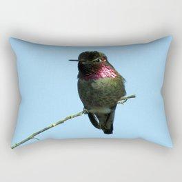 Male Anna's Hummingbird Rectangular Pillow
