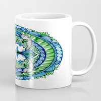 dolphins Mugs featuring Dolphins by Humna Mustafa