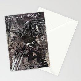 The Seven Samurai - Vintage  1952 Polish Film Poster Stationery Cards