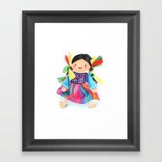 Little Mexican Doll Framed Art Print