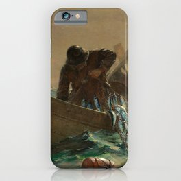 The Herring Net - George's Bank, New England maritime landscape by Winslow H-o-m-e-r iPhone Case
