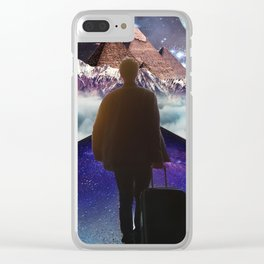 A Trip To Another Dimension Clear iPhone Case