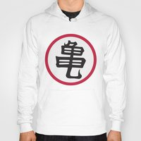 dragonball Hoodies featuring Turtle School of Martial Arts Kanji, Dragonball Z by Larsonary