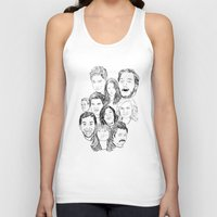 parks and rec Tank Tops featuring Parks and Recreation 'Rec a Sketch' by Moremeknow