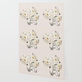 White Peonies Wallpaper
