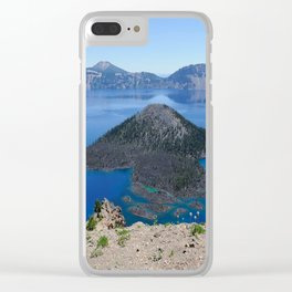 Crater Lake Volcanic Crater Oregon USA Clear iPhone Case