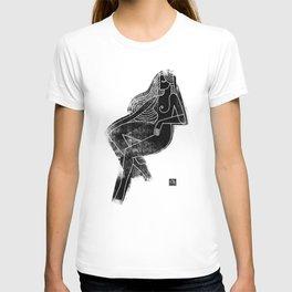 Seated Figure Black T-shirt