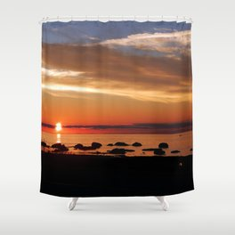 Cruising into the Sunset Shower Curtain