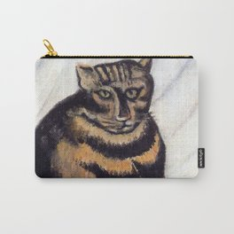 Henri Russeau, Tabby 1963, Naive Cat Artwork for Wall Art, Prints, Posters, Tshirts, Men, Women, You Carry-All Pouch