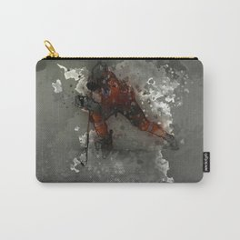 On Ice - Ice Hockey Player Modern Art Carry-All Pouch