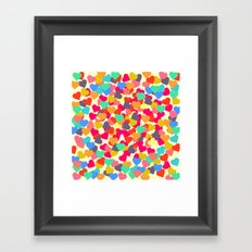 Rain of hearts Framed Art Print