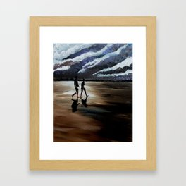 A burning darkness in the distance Framed Art Print
