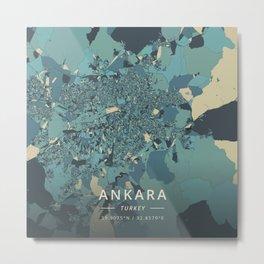 Ankara, Turkey - Cream Blue Metal Print