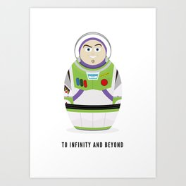 Buzz lightyear russian doll Art Print
