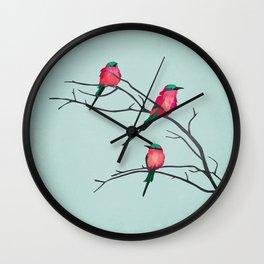 Cardinal Birds Wall Clock