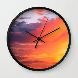 Alternate Sunset Dimensions Wall Clock